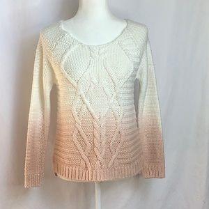 Promod Ombré Chunky Knit Sweater Size M